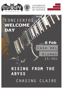 CARTEL CONCIERTOS WELCOME DAY Feb