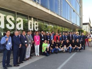 Foto grupo visita empresarios CEV