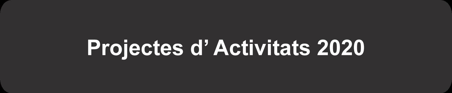 Projectes d' Activitats 2020